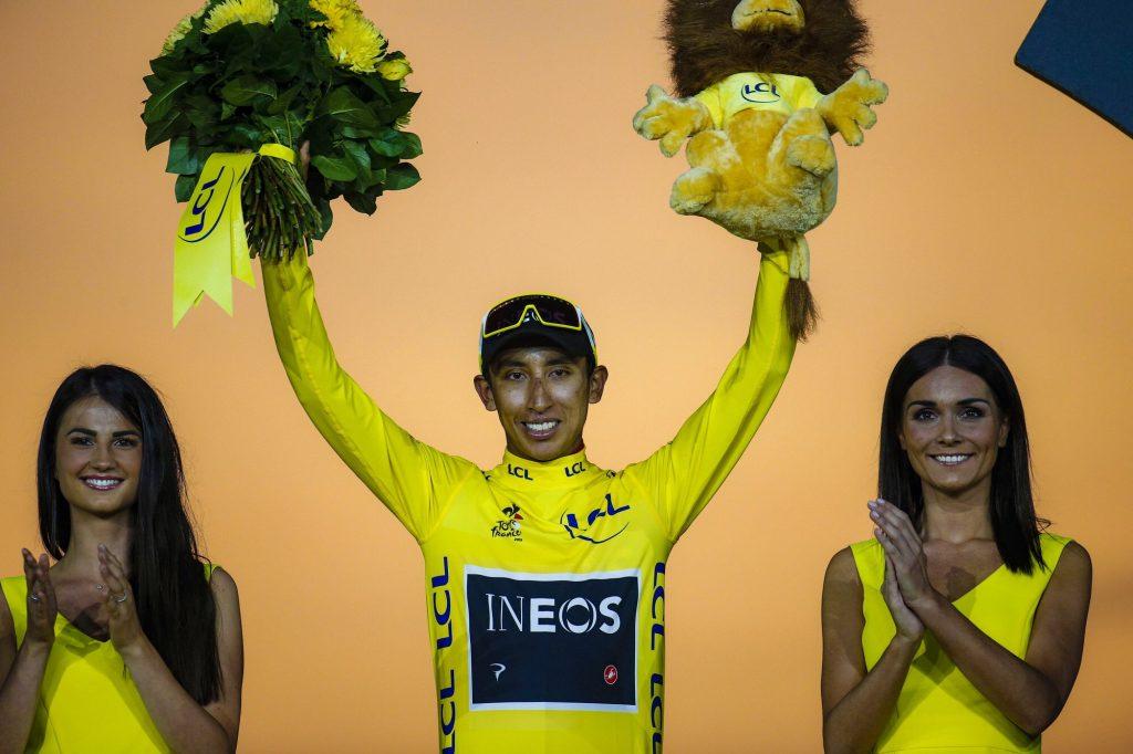 Bernal na pódiu Tour de France