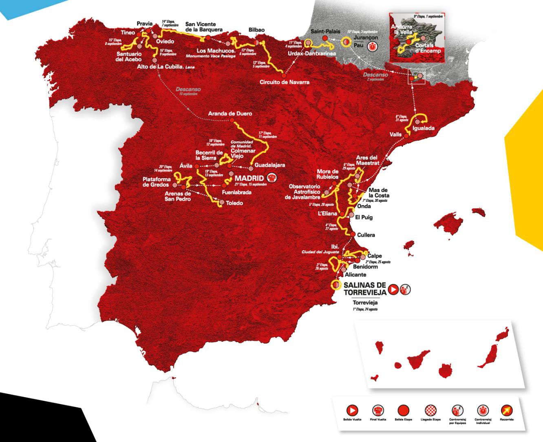 trasa Vuelta