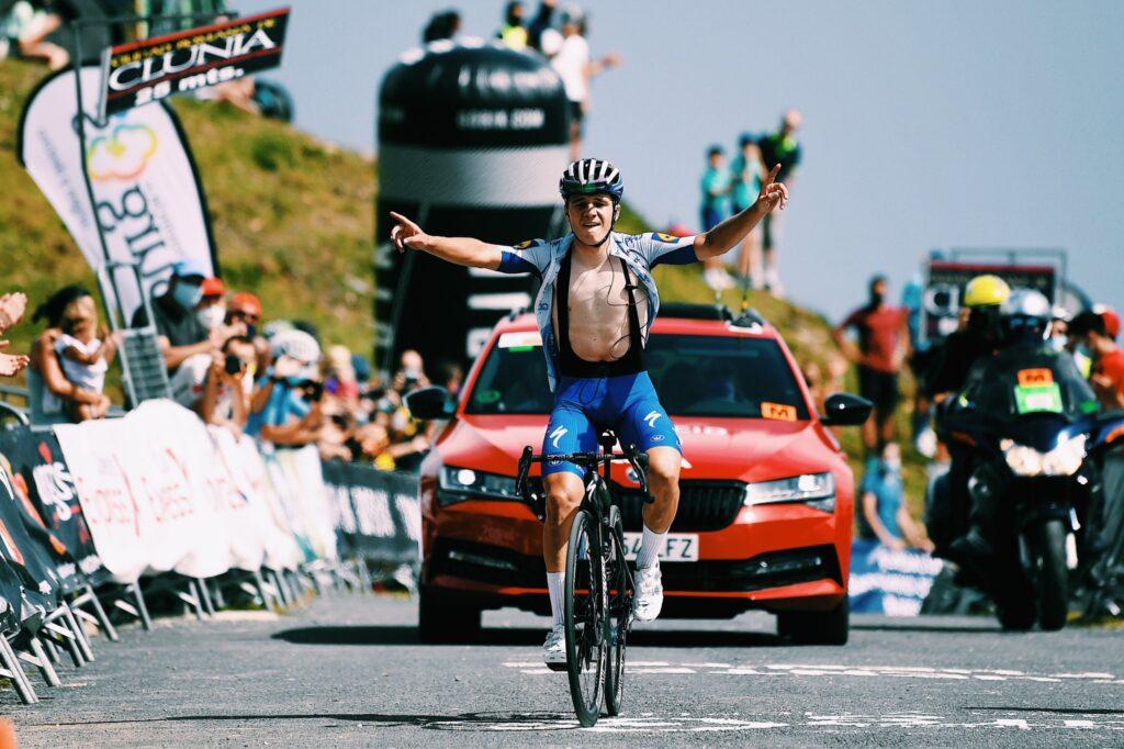 Remco Evenepoel vyhral 3. etapu Vuelta a Burgos