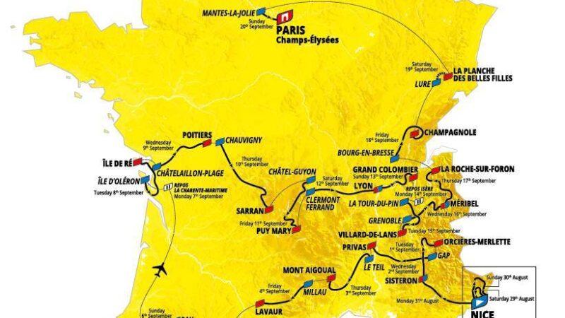 TdF mapa 2020