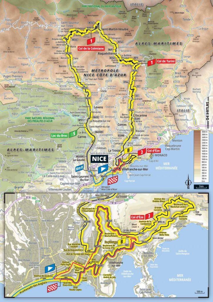 2. etapa Tour de France 2020 trasa