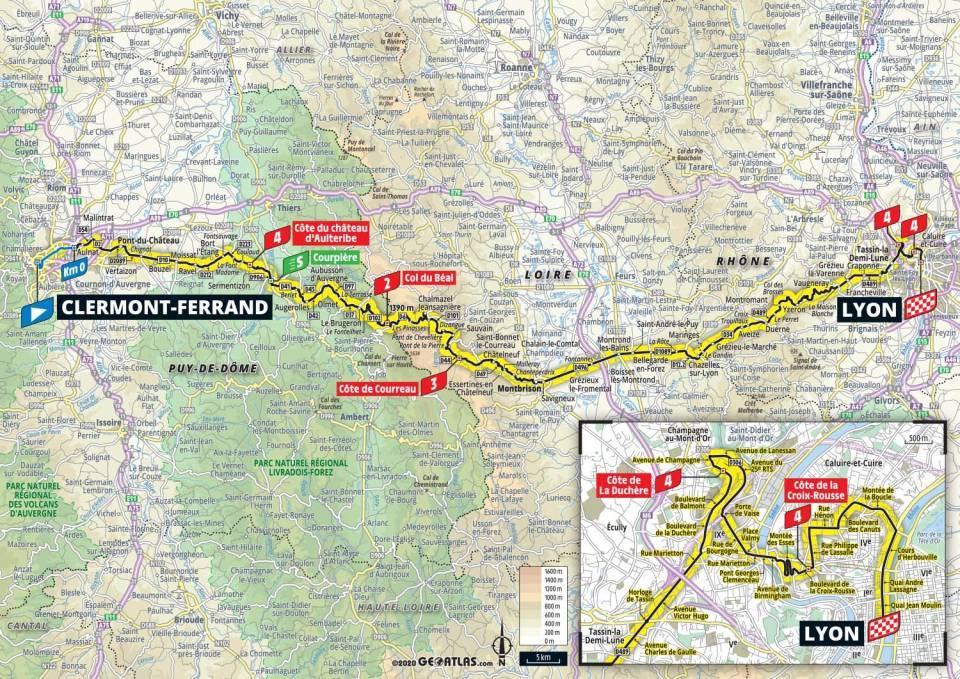 14. etapa Tour de France 2020 mapa