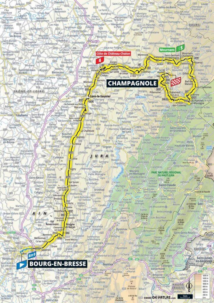 19. etapa Tour de France 2020 mapa
