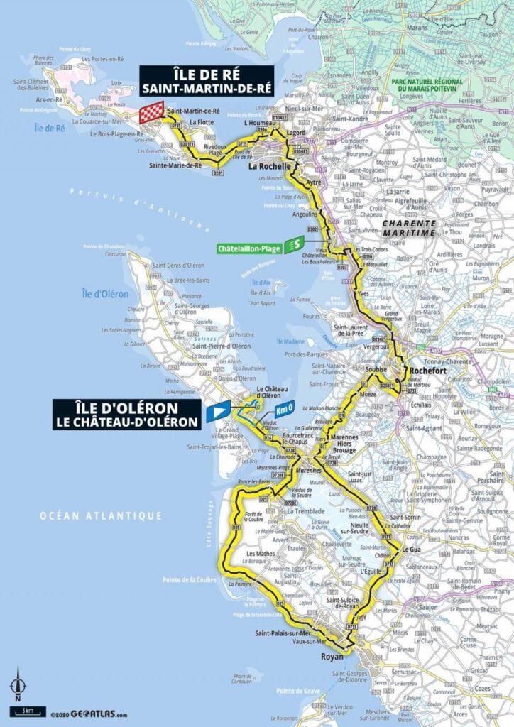 10. etapa Tour de France 2020 mapa