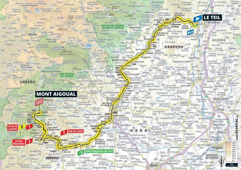 6. etapa Tour de France 2020 mapa