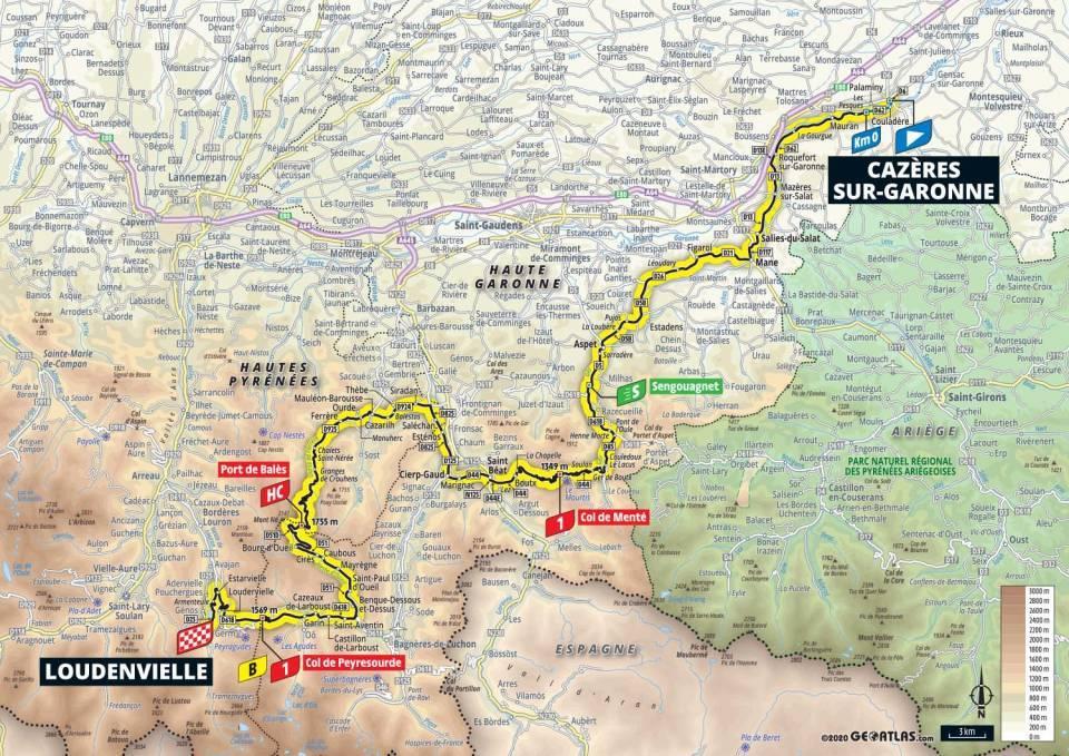 8. etapa Tour de France 2020 mapa