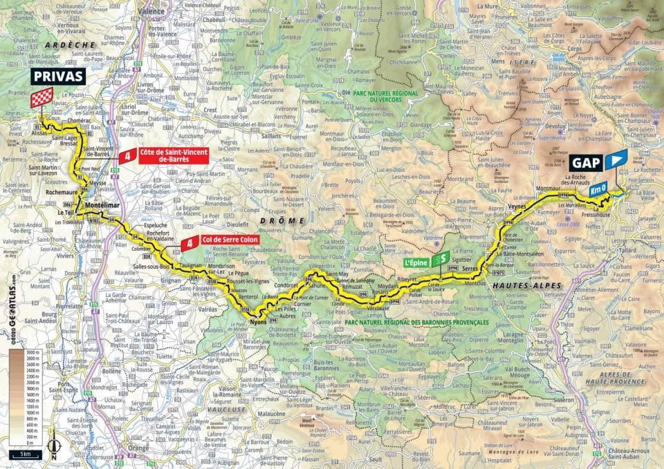 5. etapa Tour de France 2020 mapa