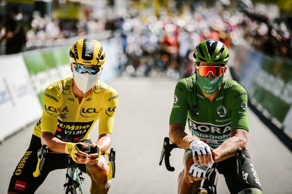 Primož Roglič Peter Sagan Tour de France 2020