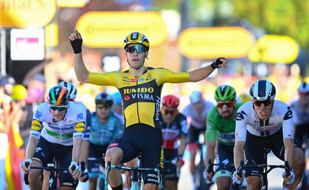 Wout van Aert 5. etapa Tour de France 2020 Sam Bennett piaty