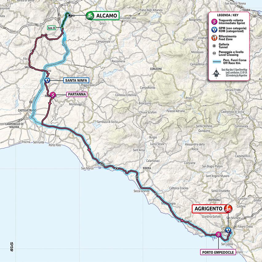 2. etapa Giro d'Italia mapa