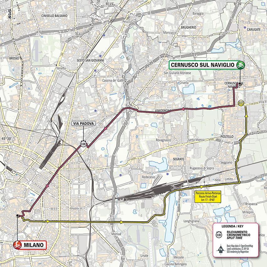 21. etapa Giro d'Italia 2020 mapa