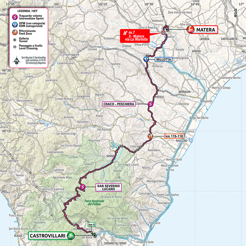 6. etapa Giro d'Italia 2020 mapa