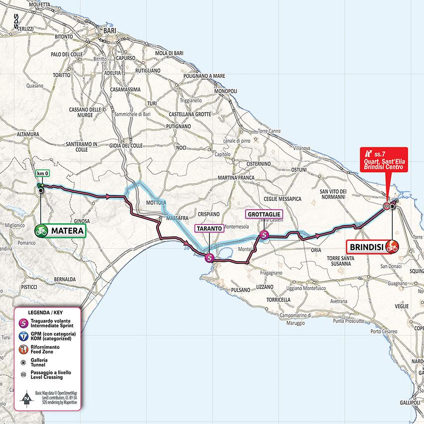 7. etapa Giro d'Italia 2020 mapa