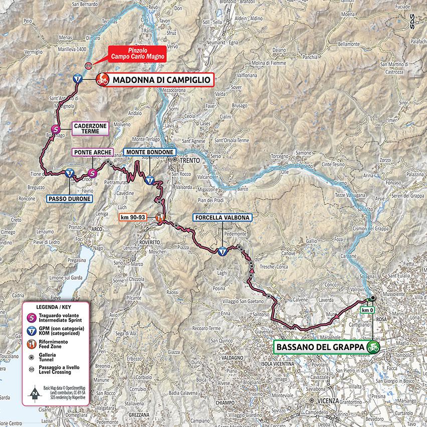 17. etapa Giro d'Italia 2020 mapa