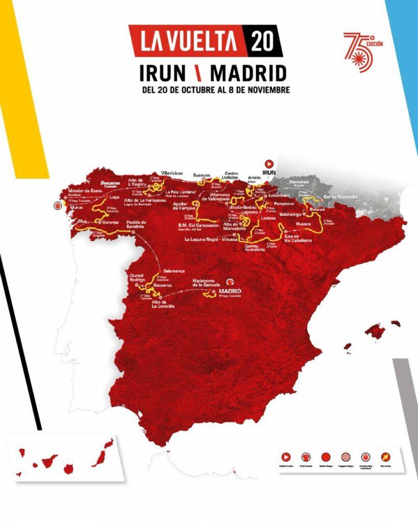 Mapa Vuelta 2020