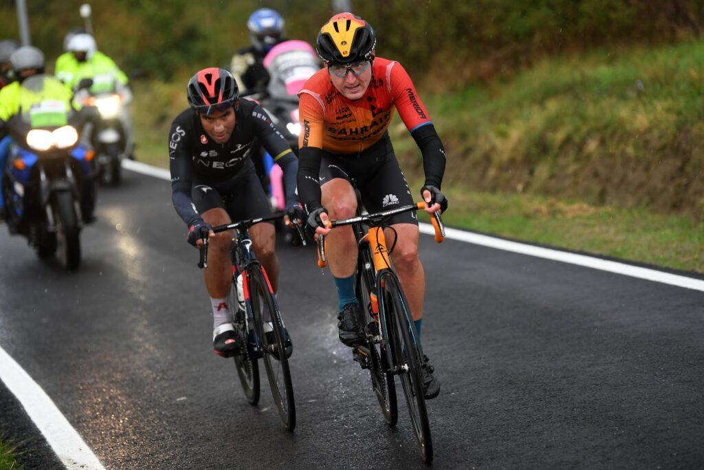Padun a Narváez počas 12. etapy Giro d'Italia 2020