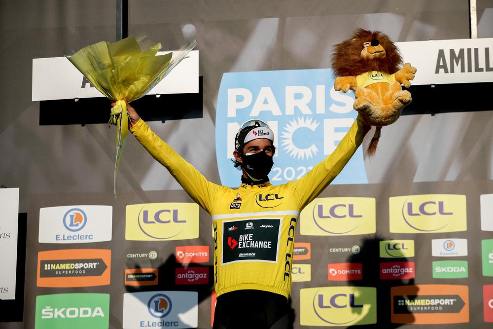 Michael Matthews v žltom drese Paríž - Nice 2021