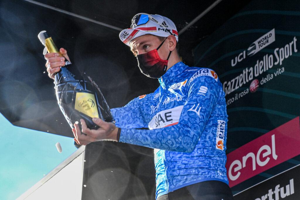 Tadej Pogačar v drese Tirreno - Adriatico 2021