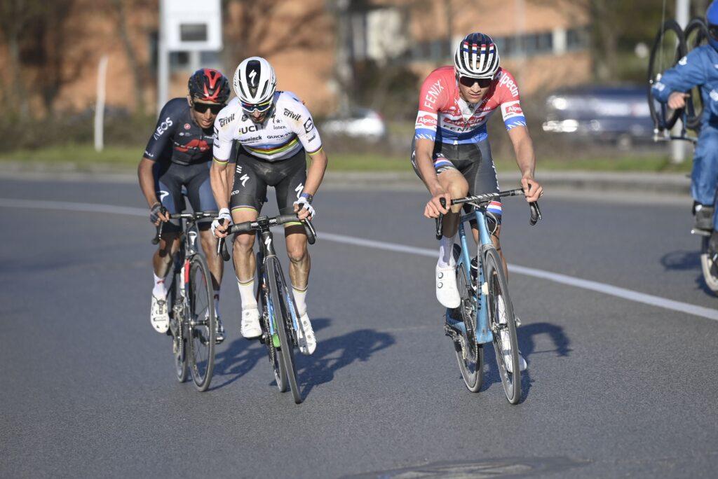 Strade Bianche 2021 Julian Alaphilippe Mathieu van der Poel