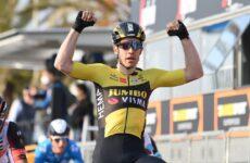 Wout van Aert 1. etapa Tirreno - Adriatico 2021