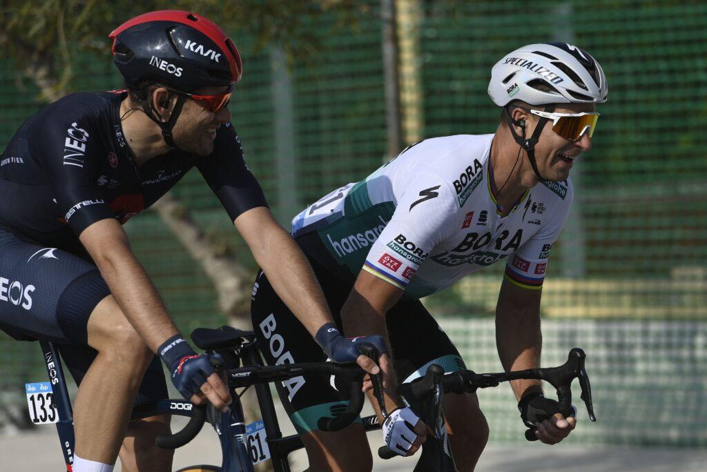 Filippo Ganna Peter Sagan 1. etapa Tirreno - Adriatico 2021