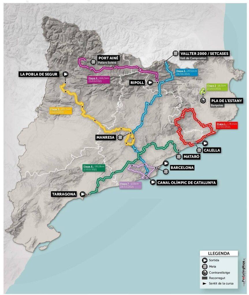 Okolo Katalánska 2021 trasa