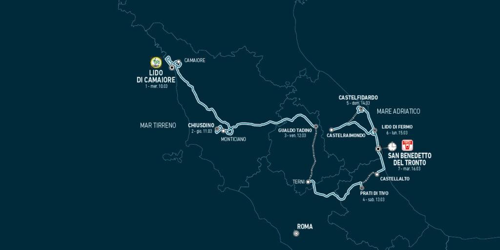 Tirreno - Adriatico 2021 trasa