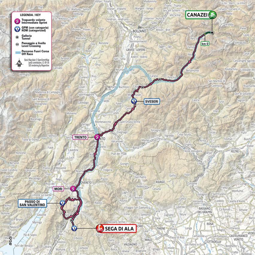 17 etapa Giro d Italia 2021 mapa