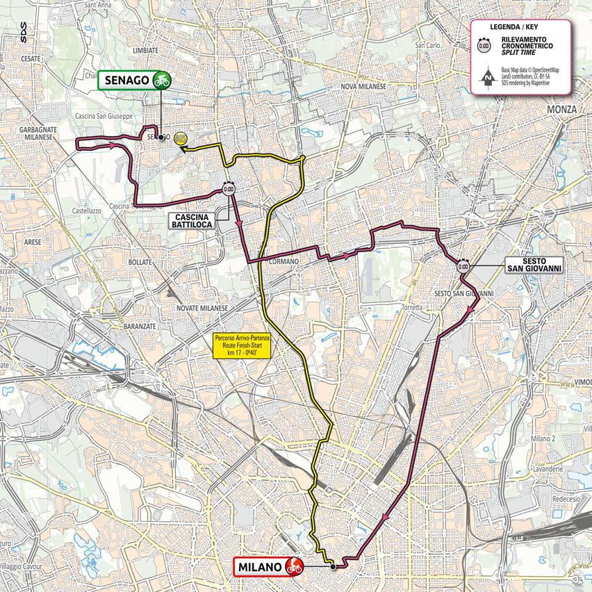 21. etapa Giro d'Italia 2021 mapa