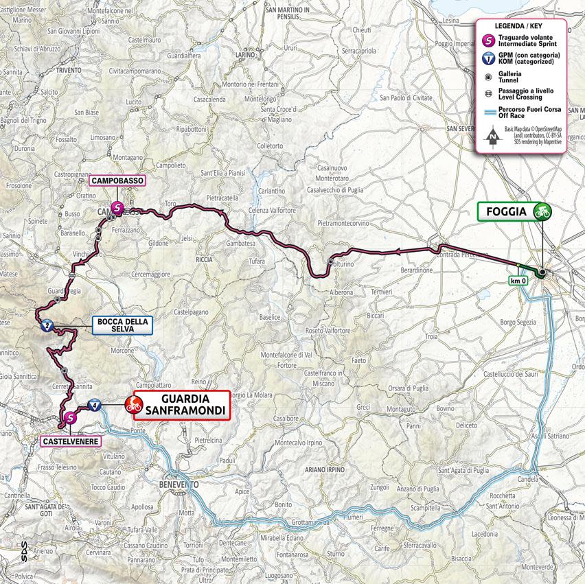 8. etapa Giro d'Italia 2021 mapa