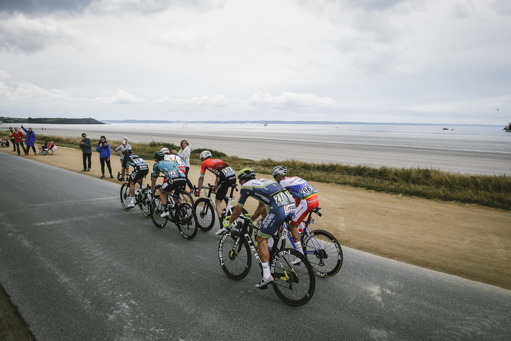 Escape in the 1st stage of the Tour de France.