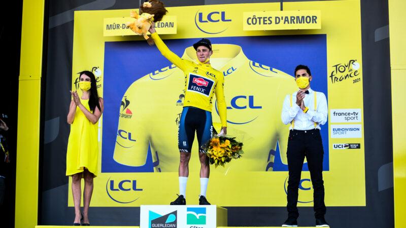Mathieu van der Poel 2. etapa Tour de France 2021