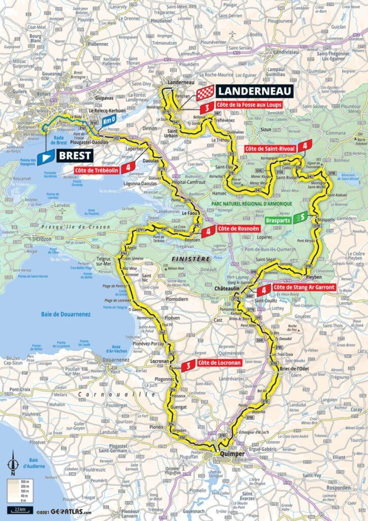 1. etapa Tour de France 2021 mapa