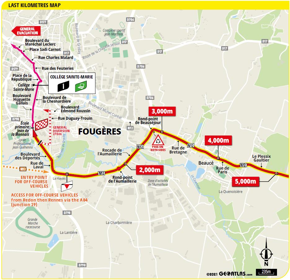 4. etapa Tour de France 2021 posledné kilometre šprint