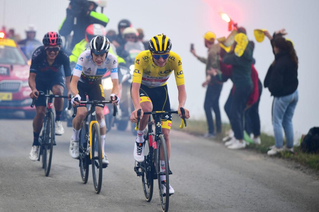 Tadej Pogačar Jonas Vingegaard Richard Carapaz 17. etapa TdF Tour de France 2021