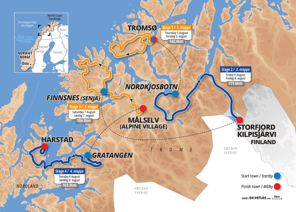 Arctic Race of Norway 2021 mapa
