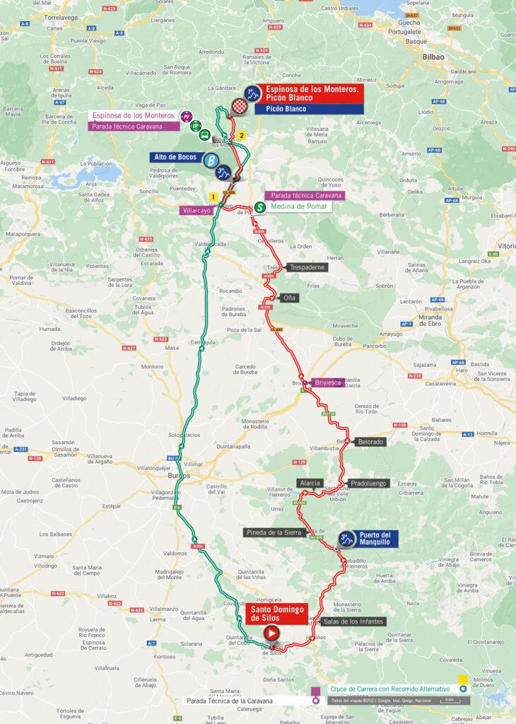Vuelta a Espaňa 2021 3. etapa mapa