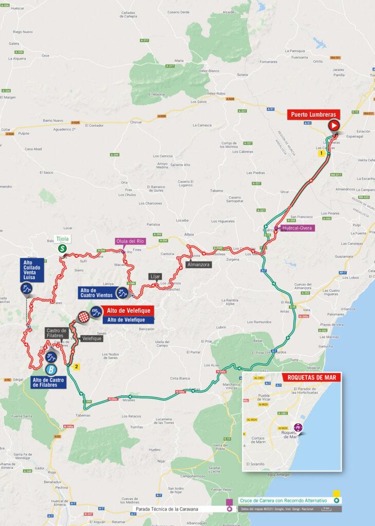 Vuelta 2021 9. etapa mapa