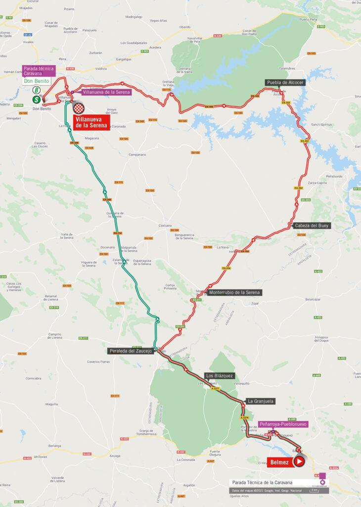 Vuelta 2021 14. etapa mapa