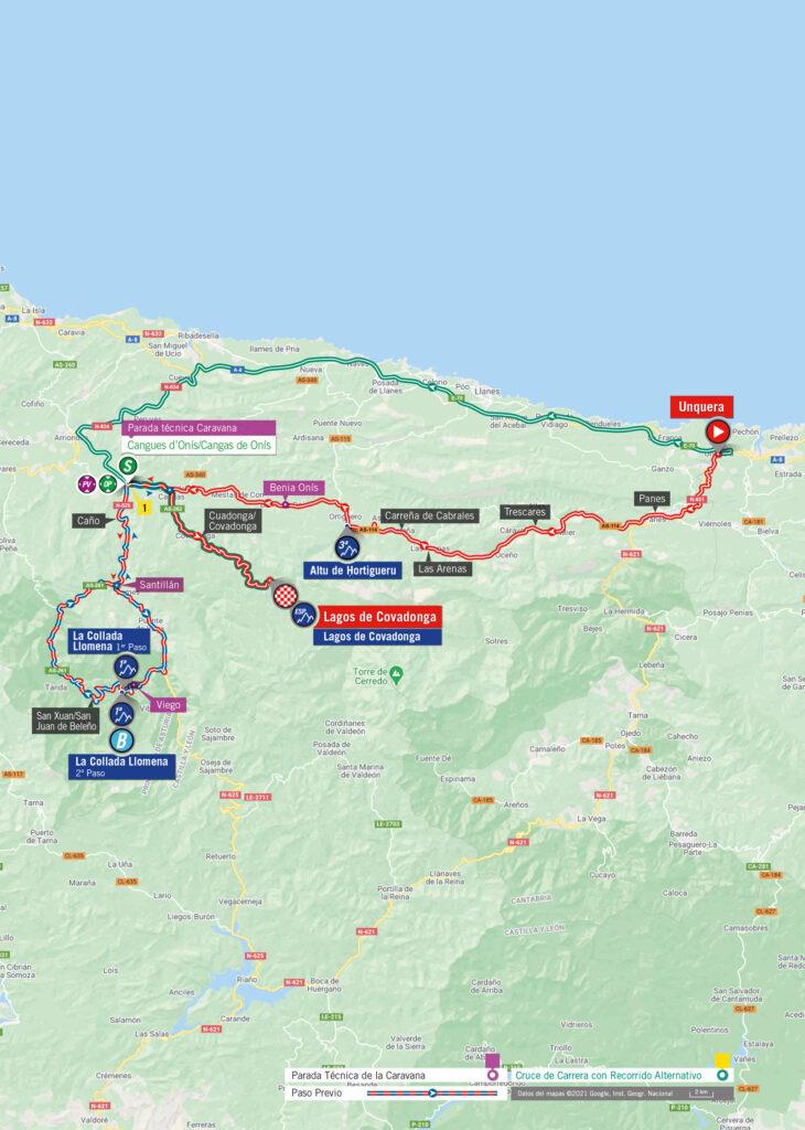 Vuelta 2021 17. etapa mapa