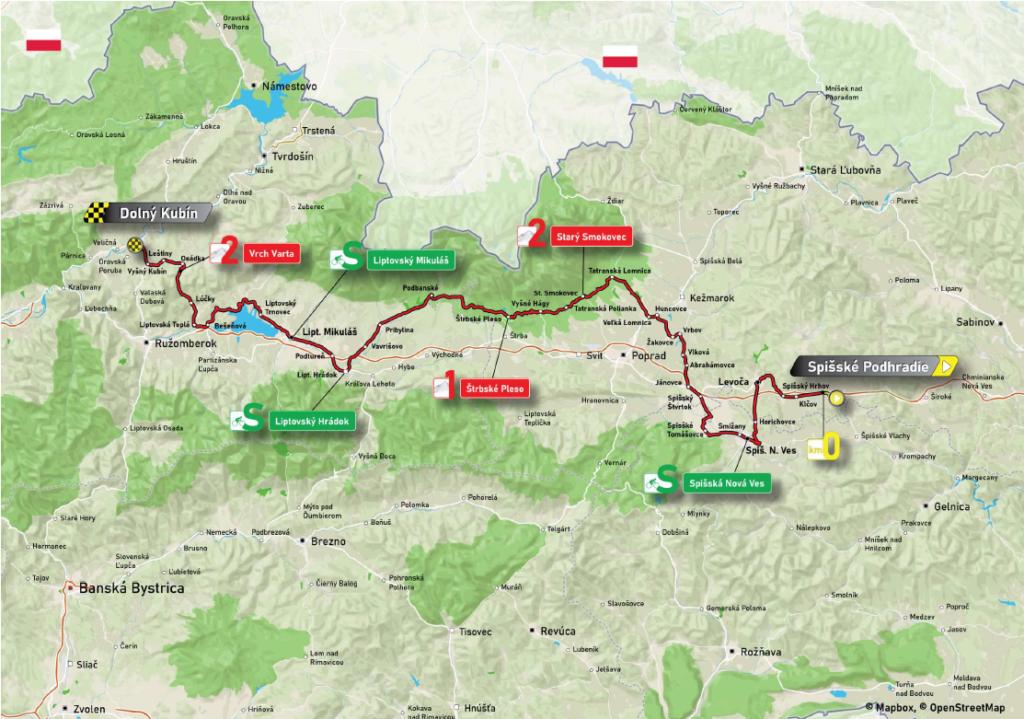 2. etapa Okolo Slovenska 2021 mapa