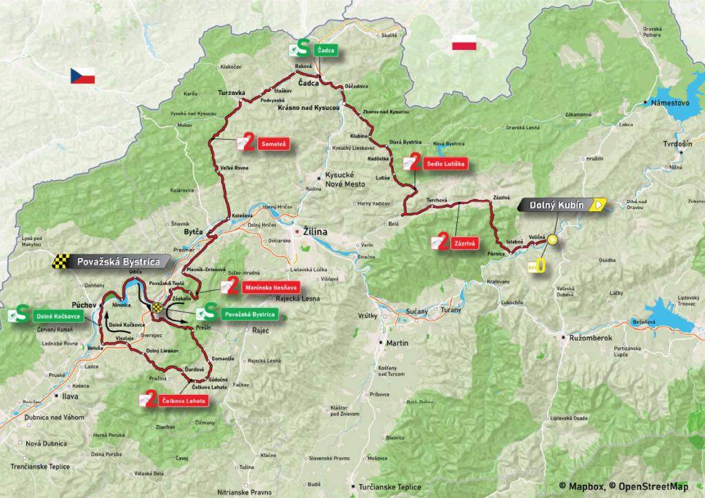 3. etapa Okolo Slovenska 2021 mapa