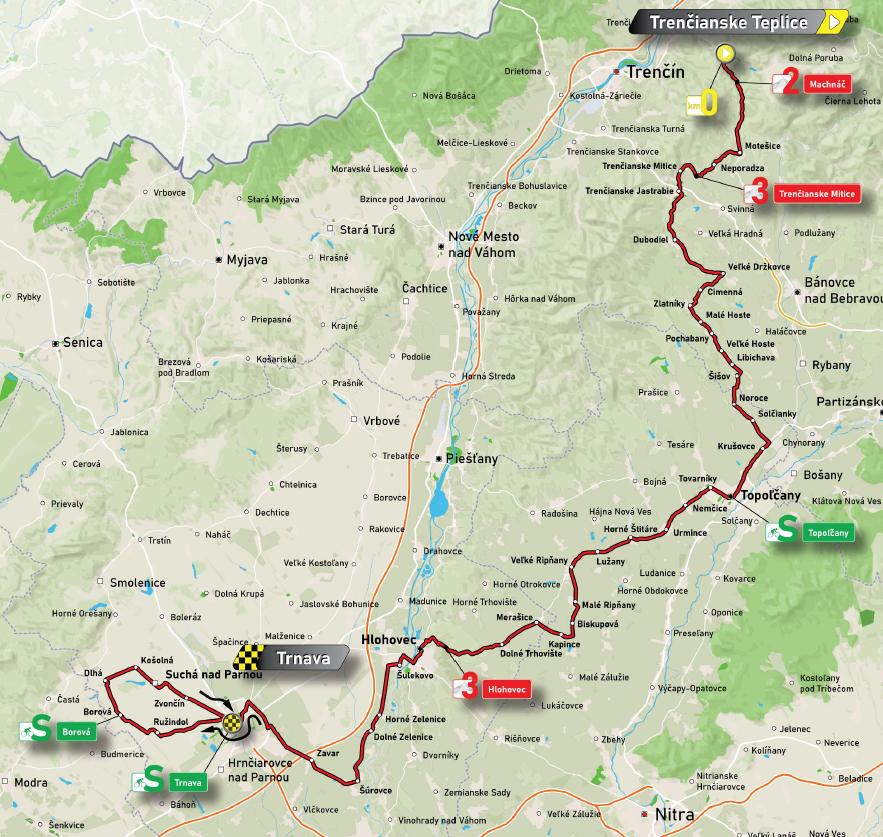 4. etapa Okolo Slovenska 2021 mapa