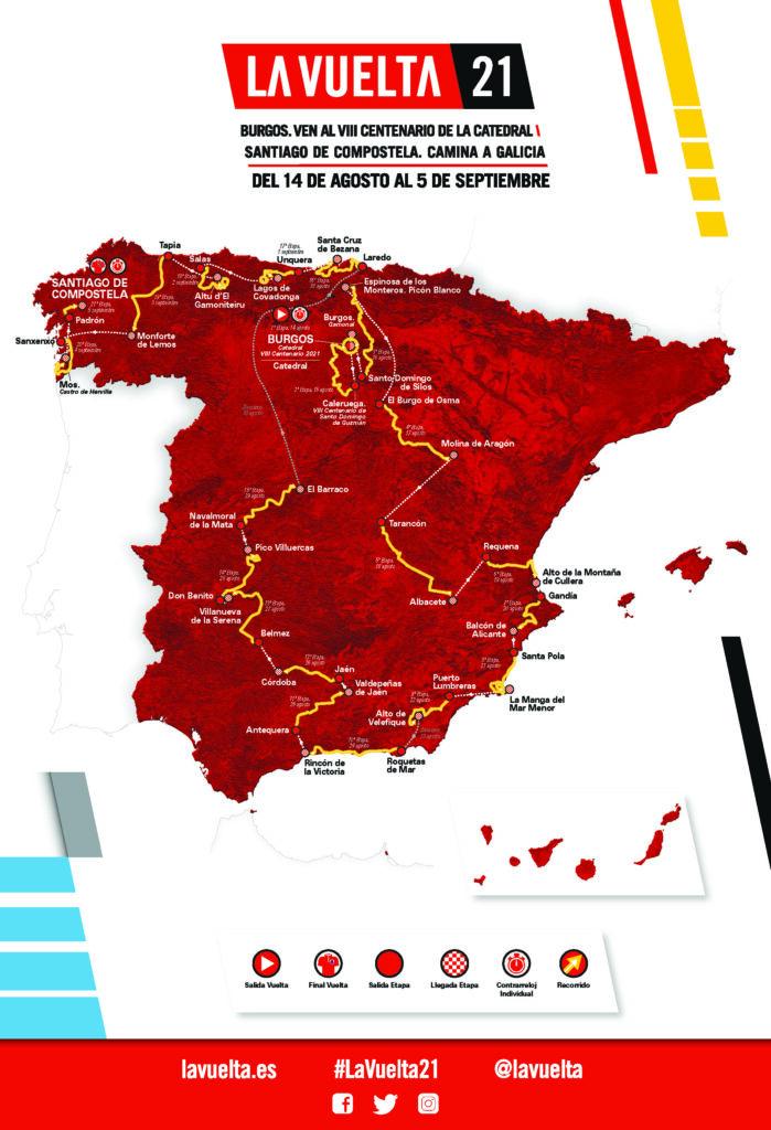 La Vuelta 2021 mapa trasa