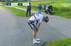 Peter Sagan pád 1. etapa Okolo Beneluxu 2021