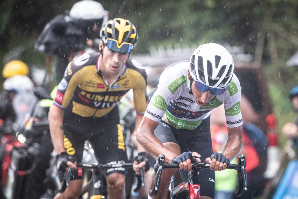 17. etapa Vuelta 2021 Primož Roglič a Egan Bernal