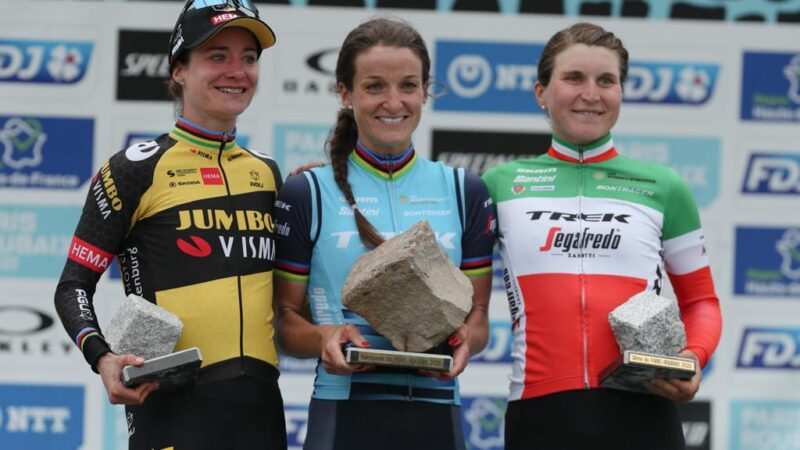 Deignan Vos Longo Borghini Paríž - Roubaix 2021